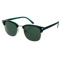 ASOS Black Clubmaster Sunglasses with Contrast Color Internal