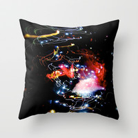 galaxy rave lights  Throw Pillow by Sari Klein
