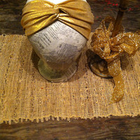 Knotted headband- gold