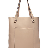 Versatile Faux Leather Tote