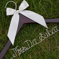 Promotion, Single Line Wire Name Hanger, Custom Wedding Hanger, Personalized Bridal Hanger, Bridesmaids Name Hanger