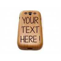 wooden Samsung Galaxy S3 case - laser engraved with custom text!