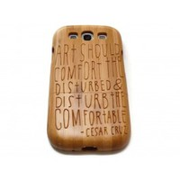 Wooden Samsung Galaxy S3 case - Art should
