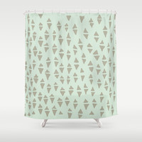 mind mountains Shower Curtain by austeja saffron