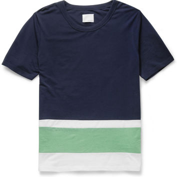 Band of Outsiders - Panelled Cotton-Piqué T-Shirt | MR PORTER