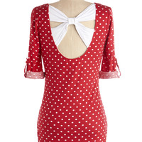 Know Your Neighbors Top in Polka Dots | Mod Retro Vintage Short Sleeve Shirts | ModCloth.com