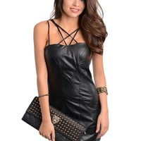 Criss Cross Black Bodycon Dress