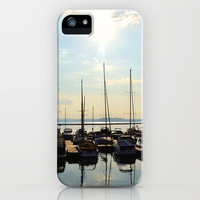 calm sailboats at sea  iPhone & iPod Case by Sari Klein