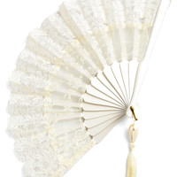 ModCloth French Lace Enchantment Fan