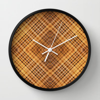 Geometric Abstract Diamonds Wall Clock by Danflcreativo