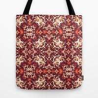 Fancy Ornament Pattern Tote Bag by Danflcreativo