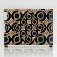 Futuristic Circles Abstract Pattern iPad Case by Danflcreativo