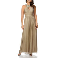 Cachet Women's Glitter Knit Goddess Gown