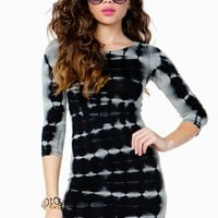 3/4 Sleeve Dye Bodycon Dress