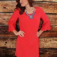 Scalloped Beauty Boutique Dress Red