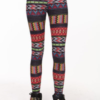 COLOR CHEVRON LEGGINGS