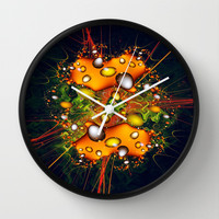 Galaxy Explosion Wall Clock by Alice Gosling