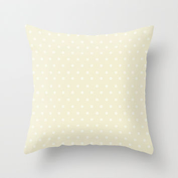 Polka Spots Throw Pillow by Texnotropio
