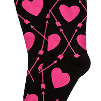 The Pucker Up Socks in Black
