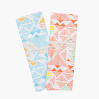 Pyramids Linen Tea Towel