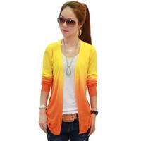 Zacoo Women's High Elastic Knit Fabric Cardigan Sweater