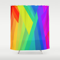 Rainbow Crystals Shower Curtain by House of Jennifer