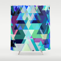 Azure Mountains Shower Curtain by House of Jennifer