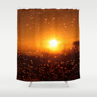 Rain Sunset II Shower Curtain by CAPow!