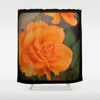 Orange Rose ttv photo Shower Curtain by CAPow!