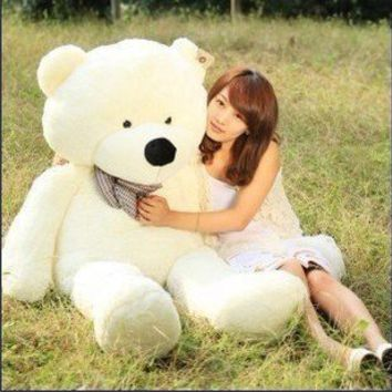 "47"" White color 1.2M Giant Huge Cuddly Stuffed Animals Plush Teddy Bear Toy Doll"