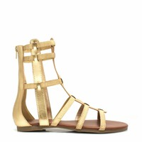 Metallic Action Gladiator Sandals