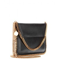 FALABELLA FAUX-LEATHER CLUTCH