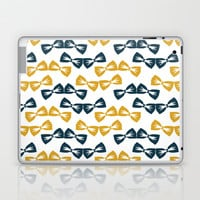Zany Du Bow Tie Pattern Laptop & iPad Skin by Zany Du Designs