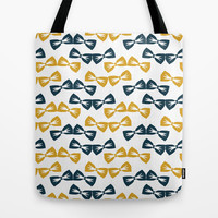 Zany Du Bow Tie Pattern Tote Bag by Zany Du Designs