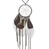 Dream Catcher Feather Necklace | Wet Seal
