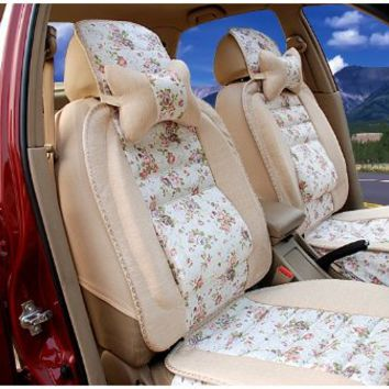 linen floral automobile car seat cushion from amazon car ideas. Black Bedroom Furniture Sets. Home Design Ideas