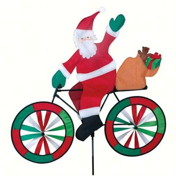 Santa Bicycle Spinner