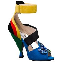 Prada Jeweled Colorblock Sandal | Nordstrom