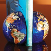 Smithsonian Gemstone Globe Bookends