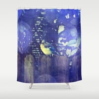 Blue Jay Shower Curtain by Yoshigirl