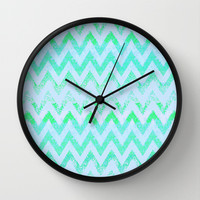 glowing chevron Wall Clock by Marianna Tankelevich