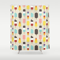 Ice Lollies & Frozen Treats Shower Curtain by Lisa Marie Robinson