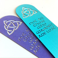 Celtic Triquetra Quote Bookmark