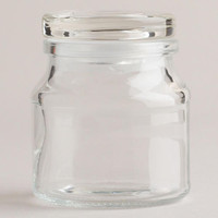 Round Spice Jars with Lids, Set of 6