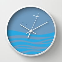 I Dream of Sea Wall Clock by Texnotropio