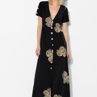 Stone Cold Fox Dharma Button-Front Maxi Dress - Urban Outfitters