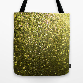 Mosaic Sparkley Texture Gold G188 Tote Bag by MedusArt