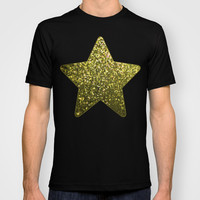 Mosaic Sparkley Texture Gold G188 T-shirt by MedusArt