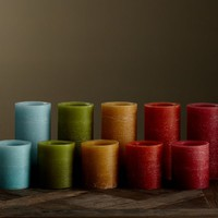 Ombre Flameless Wax Pillar Candle