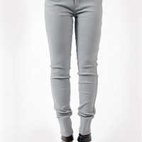 PZ012-2-4 Grey Skinny Jeans Apparel Jeans GREY Bare Feet Shoes
